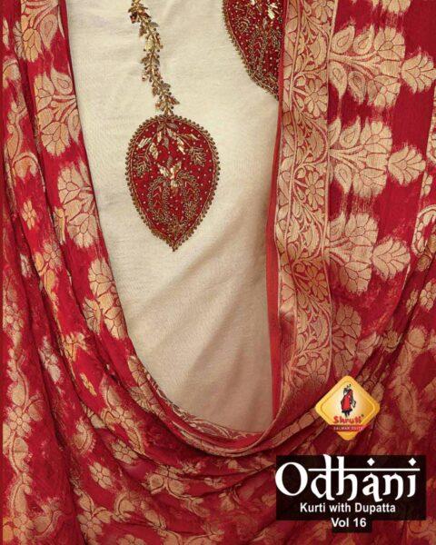 Shruti Odhani vol 16 Designer Kurtis with Dupatta wholesalers