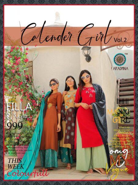 Calender Girl vol 2 Kurtas with Palazzo & Dupatta