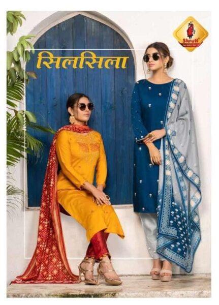 Shruti Silsila Silk Kurtis with pant & Dupatta