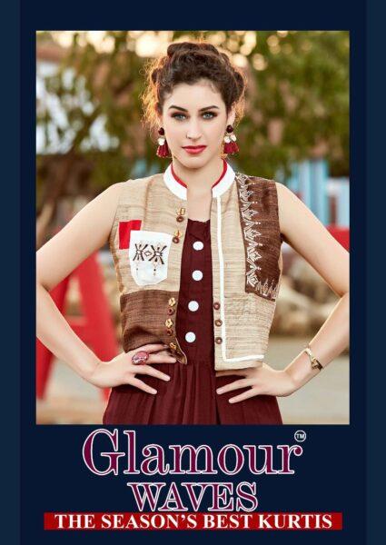 Glamour Waves Designer Kurtis wholesalers