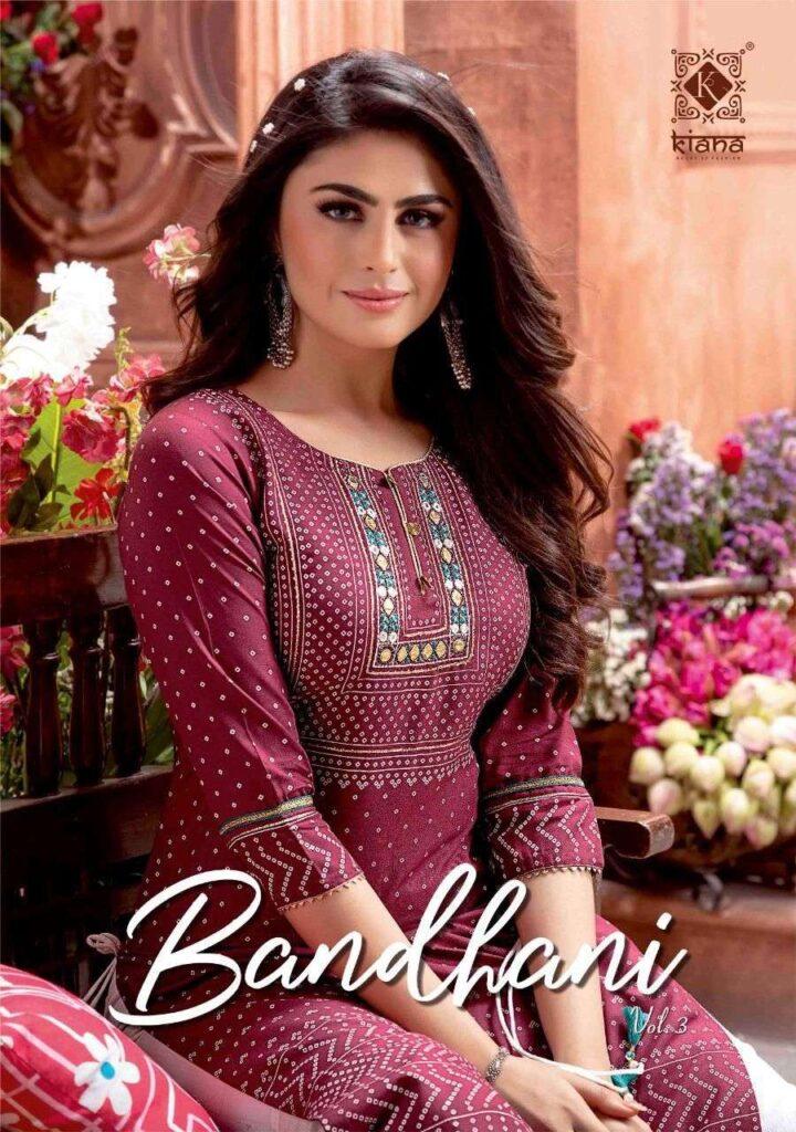 Kiana Bandhani vol 3 Kurtis with Sharara Wholesalers