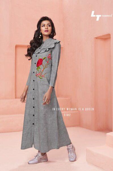 LT Nitya vol 31 Rayon Cotton Long Kurtis wholesalers