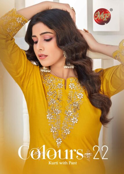 MF Colours vol 22 Kurtis with Pants collection