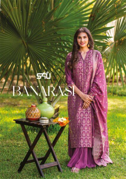 S4U Banarasi Designer 3 pcs Suits Catalog wholesalers