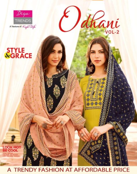 Diya Odhani Vol 2 Tops with Pants & Dupatta