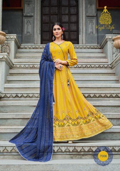 Kajal Gulzar vol 7 Designer Tops with Bottom & Dupatta