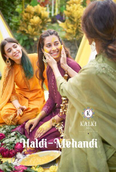 Kalki Haldi Mehandi Designer Salwar Kameez Wholesalers