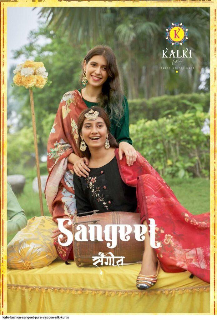 Kalki Sangeet pure viscose silk Kurtis Wholesalers