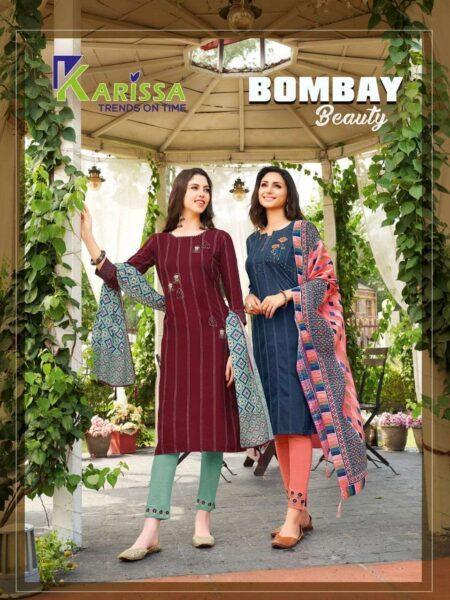 Karissa Bombay Beauty Readymade Top Pant Dupatta