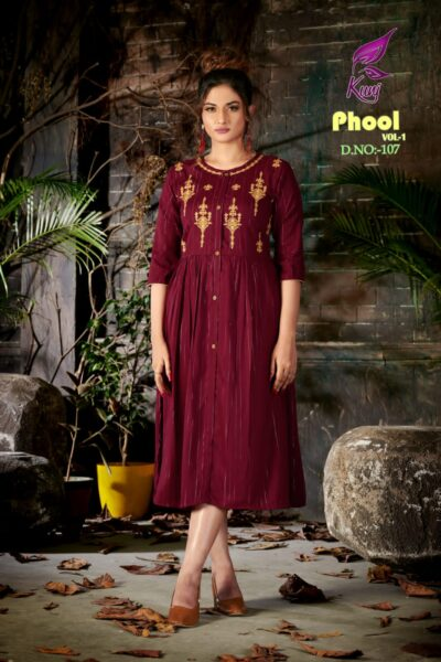 Phool vol 1 Rayon Frock style Kurtis wholesalers