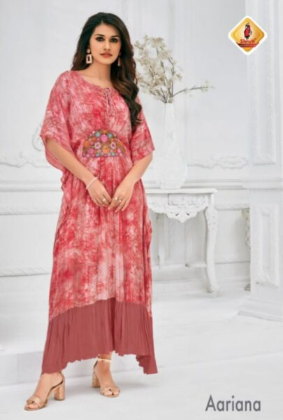 Shruti Calista Designer Kaftan style Kurtis wholesalers