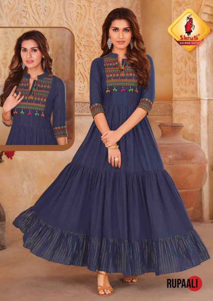 Shruti Jannat Gown Kurtis wholesalers