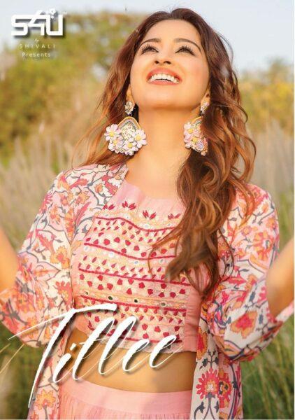 S4U Titlee Diwali special Choli with Skirt & jacket